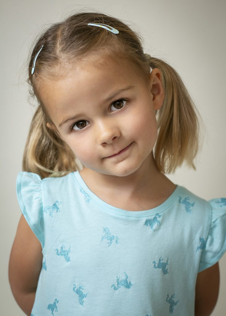 Child studio portrait photography by Jayne Douglas in London