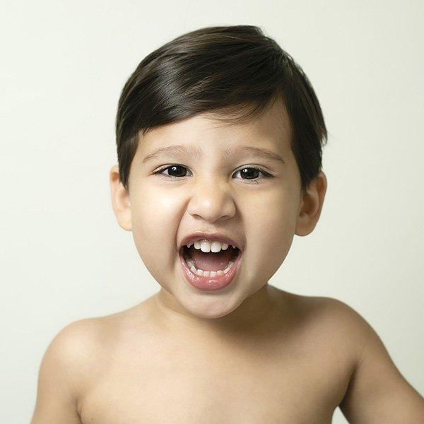 Colour Baby Face portrait