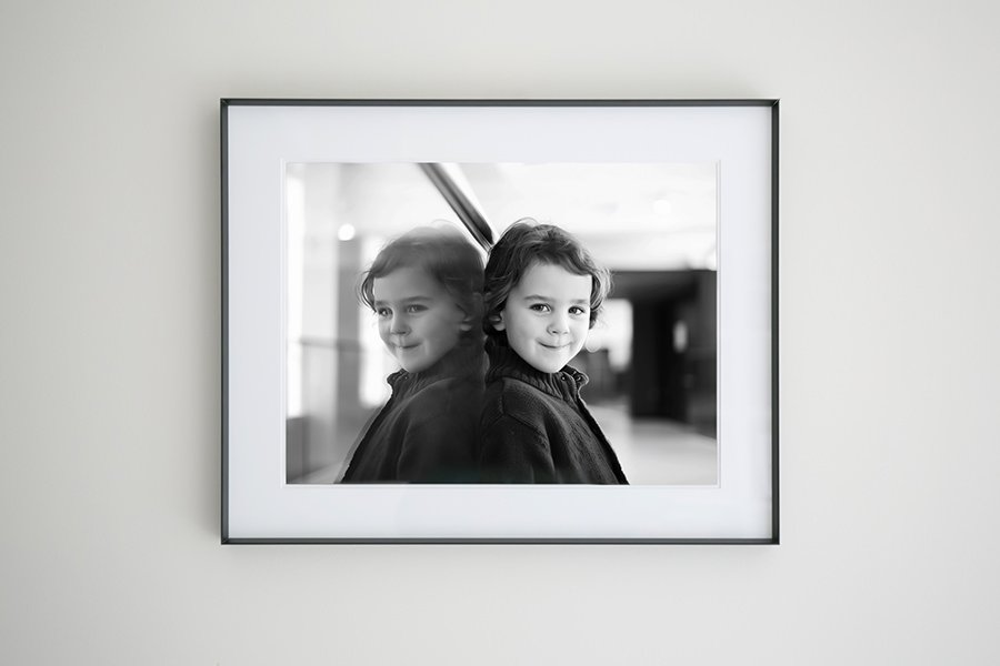 Gallery frame with fine art print