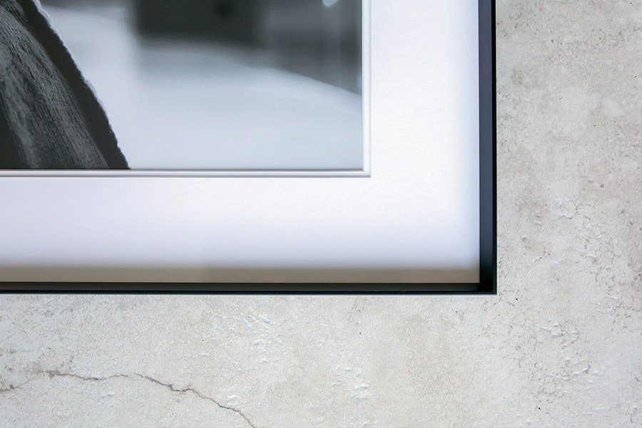 Close up of gallery frame