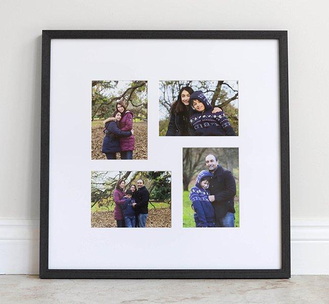 Four image storyboard frame