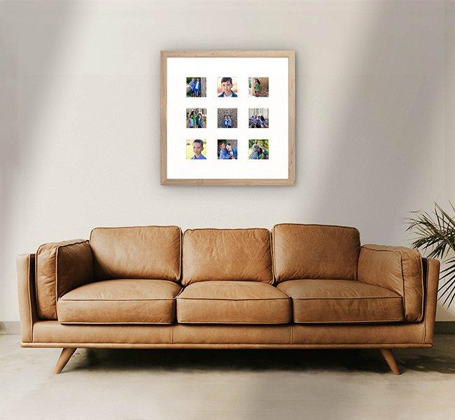 Nine image storyboard frame